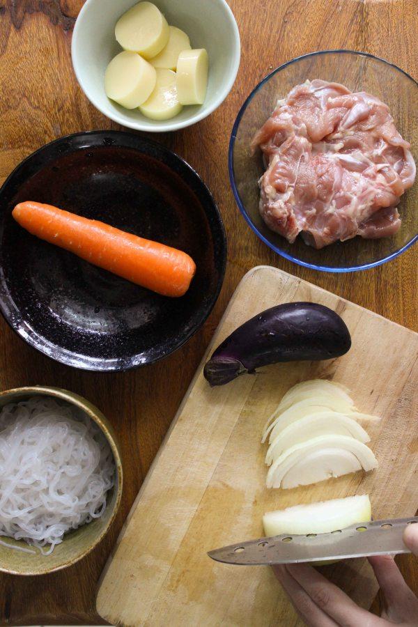 簡化版築前煮做法1
