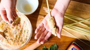 泰式香茅烤雞串燒做法7