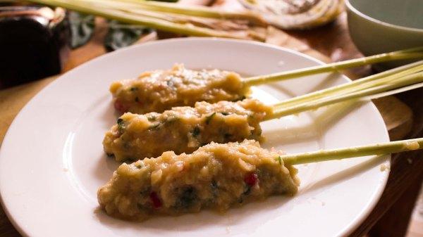 泰式香茅烤雞串燒做法9