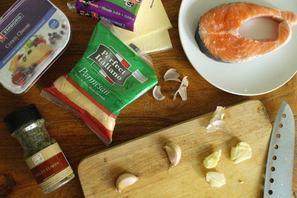 義式蒜香起司烤三文魚
